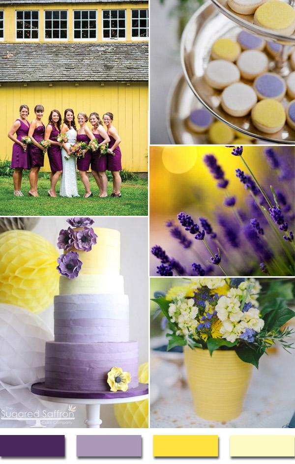 Cakes-Jen Wojcik via Style Me Pretty/Bridesmaids-Rhinehart Photography via Their Blog
