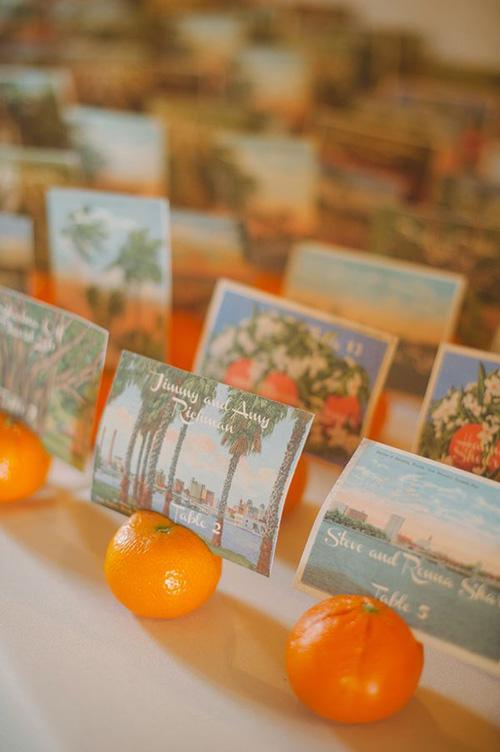 escort cards tableau de mariage