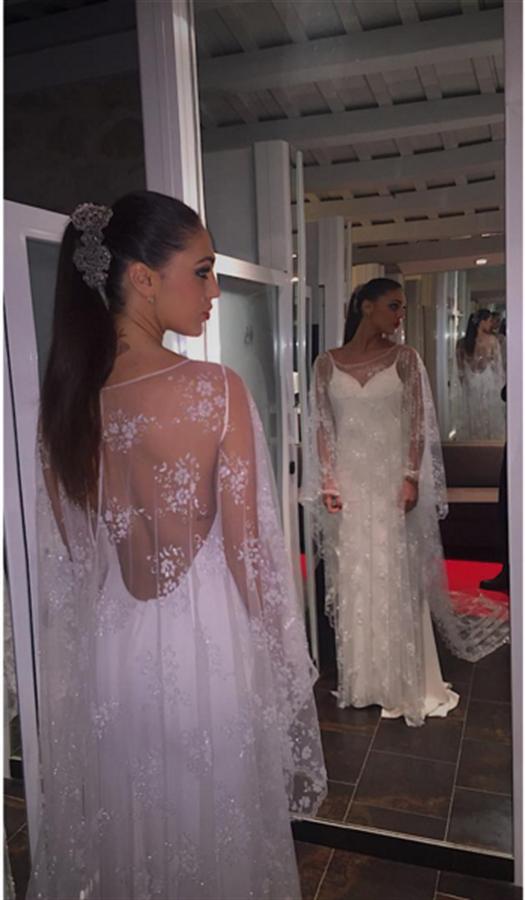 Cecilia Rodriguez Sposa Abito Bianco