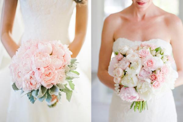 Bouquet da sposa: pastello, total white o colorato? Trend colore 2017