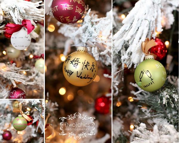 wedding-guest-book-idea-christmas-ornaments