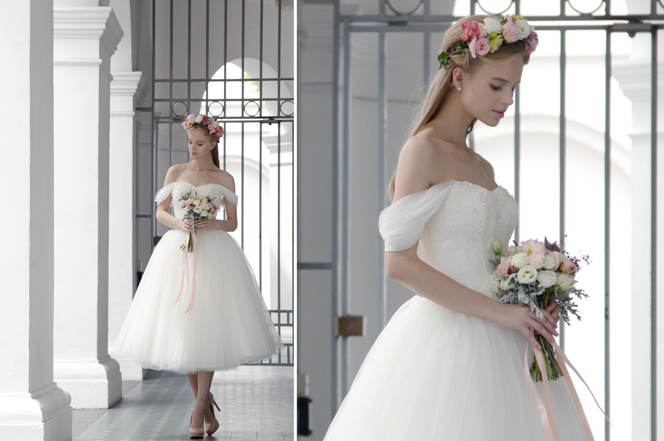 05-Z-Wedding-Off-shoulder-Engagement-Lace-Bodice-Tulle-Midi-Dress