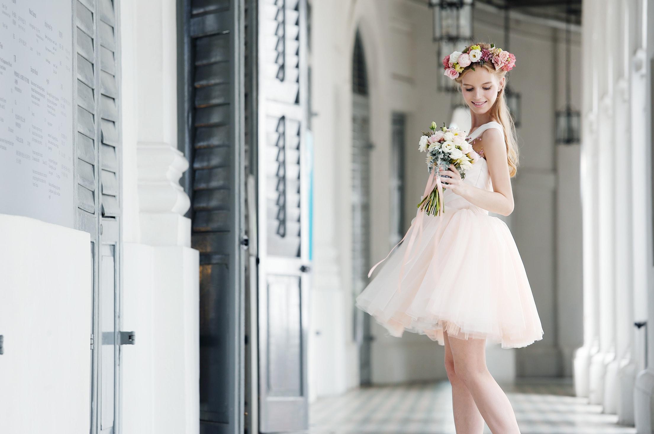 10-Z-Wedding-Pink-Toga-Organza-Ruched-Engagement-Dress