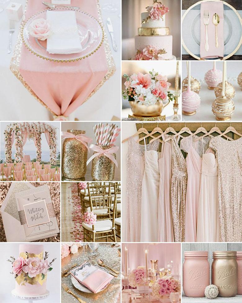 Oro e rosa antico per un matrimonio che sa di festa!